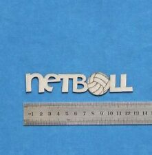Chipboard Laser Cut Embellishment Netball Words