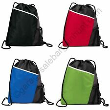 String Drawstring Cinch Sack Backpack Bag Gym Tote School Sport Pack