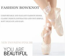 Adult Girls Womens Professional Satin Ballet Dance Pointe Shoes SDE