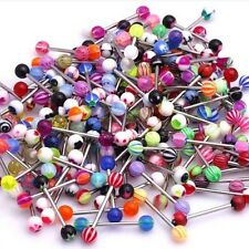Wholesale Colorful Ball Tongue Nipple Bar Ring Barbell Body Jewelry Piercing DIY