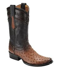 1J30A1 Urban Ostrich western boots made by Cuadra boots