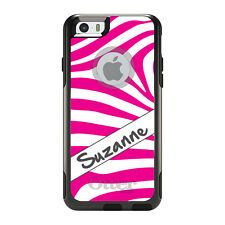Monogram OtterBox Commuter for iPhone 5S 6 6S Plus Hot Pink White Grey Zebra
