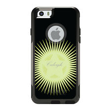 Monogram OtterBox Commuter for iPhone 5S 6 6S Plus Black Yellow Star Burst