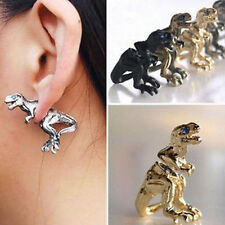 Women Gothic Punk Rock Temptation Dinosaur Dragon Ear Cuff Wrap Clip Earring A