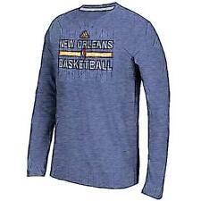 adidas NBA Climalite Practice L/S Basketball T-Shirt - Men's New Orleans Pelica