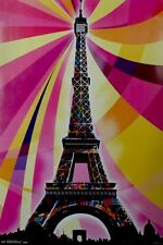 Psychedelic Eiffel Tower Poster 57x86.5cm