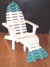 Poly Fish Adirondack Chair with Ottoman Premium Colors - Oversized - Amish Made