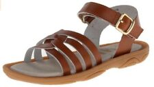 Umi Toddler Girls Cora Casual Open Toe Leather Sandal Shoes Cognac 33432