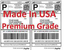 Premium Shipping Labels-Made in USA-Self Adhesive-USPS UPS FEDEX PayPal-8.5x11