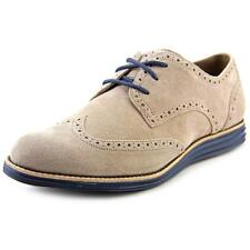 Cole Haan Lunargrand Wing. Tip Women  Round Toe Suede Nude Oxford