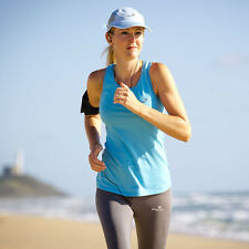 SILVERGREY Top activewear running training sport gym beach blue cotton