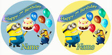 Minion Personalised Customised Edible REAL Icing Image Birthday Cake Topper