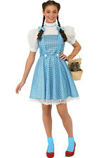 Adult Wizard of Oz Dorothy Outfit Fancy Dress Costume Blue Ladies Womens BN