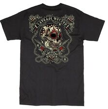 LUCKY 13 DEAD TATTOO GARAGE MOTORCYCLE GREASE GAS GLORY PUNK ROCK GOTH T SHIRT