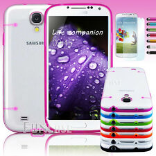 Candy Shell Clear Color Hard Glossy Case Cover for Samsung Galaxy S4 i9500 +Film