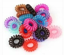 Plastic Mixed Spiral Slinky Hair Head Bands Elastics Ties Scrunchies Accessories