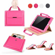 Universal Carrying Handbag PU Leather Case Cover with Stand For iPad 2 3 4 5 air