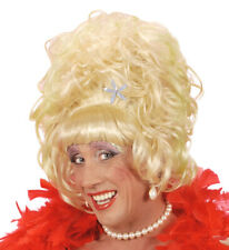 White/Blonde Drag Queen Wig Lily Savage Carnival Panto Fancy Dress Beehive