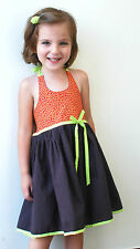 Sophie Catalou Moka Brown Halter Style Little Girls Sundress Size 4, 5 $58 NWT