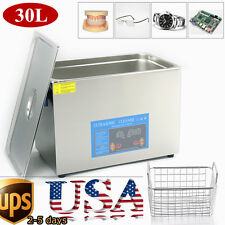 Stainless Steel 2/3/4.5/6/9L Industry Heated Ultrasonic Cleaner Heater w/Timer