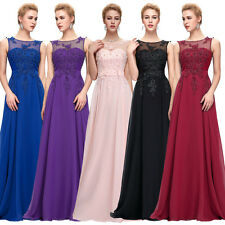 Plus Size Long Chiffon Bridesmaid Evening Formal Party Cocktail Dress Gown Prom