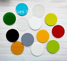 """COE 96 Spectrum CIRCLES 3"""" Fusible Glass CHOICE of Colors Fusing Mosaic Supplies"""