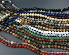 natural gemstone beads round loose semi precious beads wholesale 6mm 15'' strand