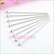 Silver Plated Copper Ball Head Pins.15mm,20mm,25mm,30mm,DIY Findings R0023