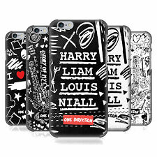 OFFICIAL ONE DIRECTION DOODLE DESIGN HARD BACK CASE FOR APPLE iPHONE PHONES