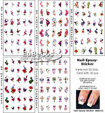 Nail Art Sticker Nail design nail Nail sticker EPOXY sticker 30 Piece Selection