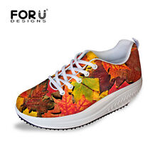 Casual Running Sneakers Womens Wedge Lace Up Fitness Athletic Sports Shoes Flats