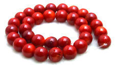 "SALE Big Round 12-13mm High quality Red natural Coral loose beads strand 15""-639"