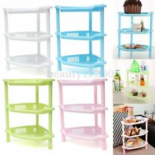 3 Tier Plastic Corner Shelf Unit Organizer Cabinet Bathroom Kitchen Storage Rack