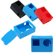 Soft Rubber Silicone Protect Case + UV Lens Filter + Lens Cap For GoPro Hero 4