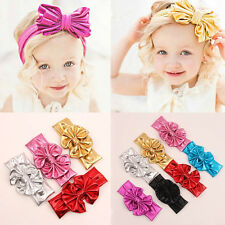 New 1Pcs Baby Girl's Toddler Big Bowknot Hair Band Headdress Elastic Headbands