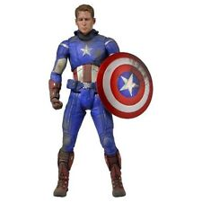 NECA Avengers - 1/4 Scale Figure - Captain America Unmasked and Battle Damaged