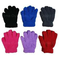 Girls/Kids Fuzzy Fashion Gloves Winter Warm Furry Stretch Soft Plush Plain Solid