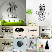 Star Wars Yoda Vader Removable Wall Stickers Arts Kids Nursery Decor Decal Mural
