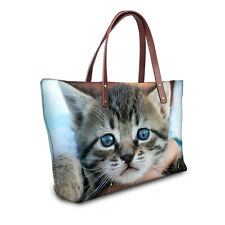 Fashion Cat Women Tote Shoulder Bags Hobo Handbags Purse Satchel Messenger bag