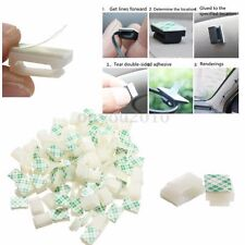 30/50/100pcs Plastic Self-Adhesive Rectangle Wire Cable Zip Tie Clip Clamp Mount