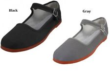 WOMENS COTTON MARY JANE SHOES CHINESE SANDALS BLACK  6 7 8 9 10 11 12