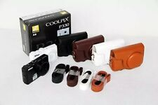 Color Leather Camera Case Bag Cover For NIkon  COOLPIX P330 310 P300 P340
