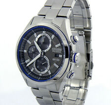 CITIZEN MEN ECO-DRIVE JAPAN MADE CHRONOGRAPH 40mm STAINLESS STEEL CA0431-51E