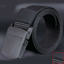 Fashion Mens Sports Casual Belts Plastic Automatic Buckle Canvas Belts Waistband