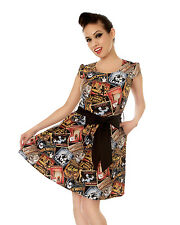 Date With a Zombie Dress  - cute retro punk rock classic movie posters *FOLTER*