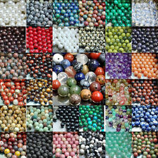 Natural Gemstone Round Spacer Loose Beads Assorted Stones 4mm 6mm 8mm 10mm 12mm