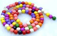 "SALE small 4mm Round Multicolor TURQUOISE beads strand 15""-los518 Free Shipping"