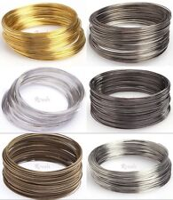 100/500 Loops Gold/Silver Plated Memory Steel Wire Cuff Bangle Bracelet 55/60mm