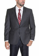 Kenneth Cole NY Slim Fit Grey Stepweave Two Button Wool Suit Jacket