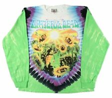 Grateful Dead Sunflower Terrapin Tie Dye Long Sleeve T Shirt LICENSED, M-2XL
